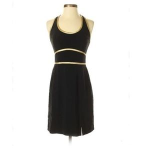 Adrianna Papell Black & gold cocktail dress